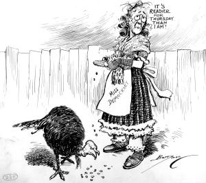 Thanksgiving Clifford Berryman cartoon 11-24-1924