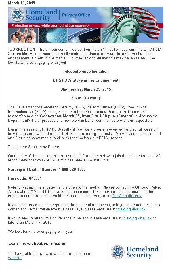 DHS Stakeholder Engagement v.2