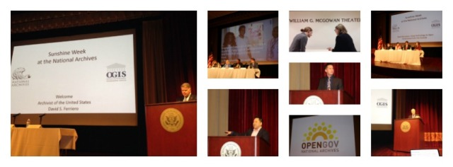We had a great time celebrating Sunshine Week at the National Archives. Here are some photos from the event!