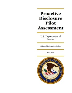 "OIP released its assessment of the ""Release to One"" pilot program in June 2016."